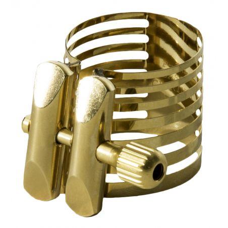 Ligature de clarinette basse Rovner Platinum Gold 3RL